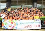 """Sinh viên Viện Đào tạo quốc tế hào hứng tham gia """"IT Office Tour"""""""