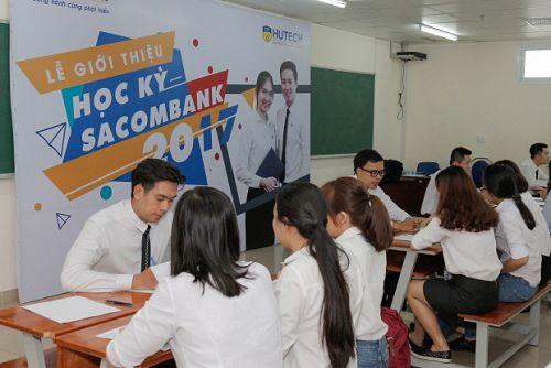 """Sinh viên Khoa Kế toán – Tài chính – Ngân hàng hào hứng cùng """"Học kỳ Sacombank 2017"""""""